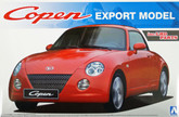 Aoshima 08010 Daihatsu Copen Export Model (inc. LHD parts) 1/24 scale kit