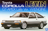 Aoshima 09420 Toyota AE86 Corolla Levin GT-APEX Late Ver. with Engine 1/24 scale kit