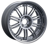 Aoshima 46418 BBS-LM 20 inch Silver Wheel & Tire Set 1/24 scale kit