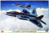 "Hasegawa 02088 F-22 Raptor JASDF Sea Camouflage"" 1/72 Scale Kit"""