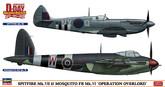 "Hasegawa 02096 Spitfire Mk. VII & Mosquito FB Mk. VI Operation Overlord"" 1/72 Scale Kit  """