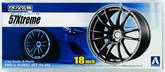 Aoshima 09154 Tire & Wheel Set No.152 Gram Lights 57 Xtreme 18 inch 1/24 scale kit