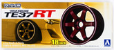 Aoshima 09161 Tire & Wheel Set No.153 Volk Racing TE37RT 18 inch 1/24 scale kit