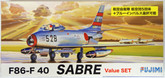 Fujimi F58 F86-F 40 SABRE Value Set 1/72 Scale Kit