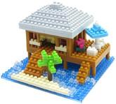Kawada NBI-002 nanoblock Resort Cottage with Nanoid