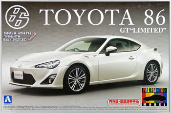 "Aoshima 10051 Toyota 86 GT Limited"" 2012 Satin White Pearl 1/24 scale kit (Pre-painted Model)  """