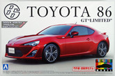 "Aoshima 10068 Toyota 86 GT Limited"" 2012 Lightning Red 1/24 scale kit (Pre-painted Model)  """
