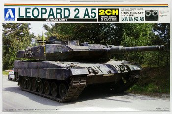 Aoshima 01462 RC AFV Series No. 2 German Army Leopard 2 A5 1/48 scale kit