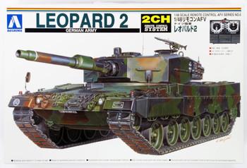 Aoshima 01509 RC AFV Series No. 6 German Army Leopard 2 1/48 scale kit