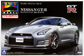 Aoshima 11355 Nissan GT-R (R35) 2014 Dark Metal Gray 1/24 scale kit (Pre-painted Model)