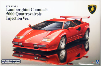 Aoshima 11546 Lamborghini Countach 5000 Quattrovalvole Injection Ver. 1/24 scale kit