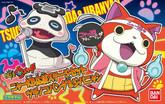 Bandai Yo-Kai Watch 964250 Nya-KB Cheering Stage Set Tsuchinoko Panda & Jibanyan Plastic Model Kit