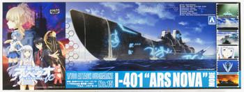 "Aoshima 11430 ARPEGGIO OF BLUE STEEL Series #15 Attack Submarine I-401 ARS NOVA"" Mode 1/700 scale kit"""