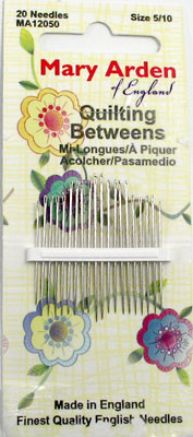 Mary Arden Quilting Betweens Needles - Pkg. of 20 Needles