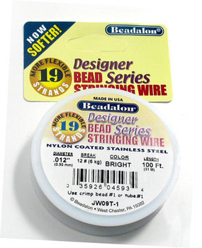 Beadalon 19 Strand (.012 inch) Bead Stringing Wire (100 ft)