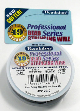 Beadalon 49 Strand (.024 inch) Bead Stringing Wire (30 ft)