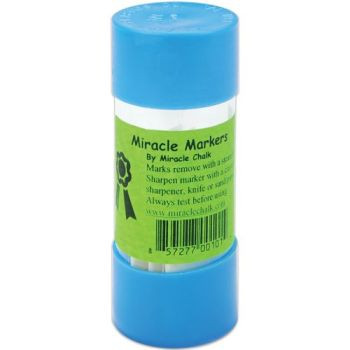 Miracle Markers by Miracle Chalk - Marks remove with a steam iron. Sharpen marker with a crayon sharpener, knife or sand paper. Always test before using.