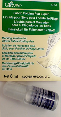Fabric Folding Pen Liquid.  Marking solution for Clover Fabric Folding Pen