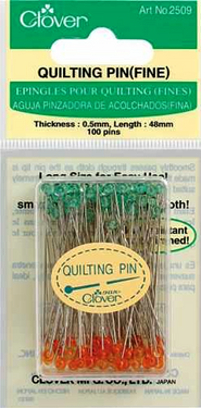 Quilting pins (fine) have a thin sharp tip so they can easily pass through fabric.