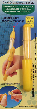Chaco liner pen.  Tapered point for easy marking.  Easy replacement.  Fits in your hand for ease-of-use.
