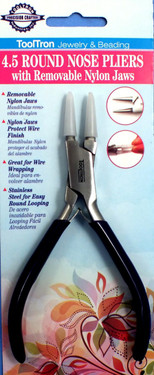 Nylon Jaw Round Nose Pliers
