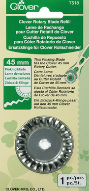 Clover 7518 Clover Rotary Blade refill /Pinking Blade/ 45mm