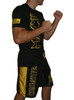 Black and Gold Moisture Wicking Fight Shirt
