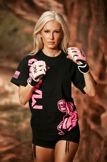 Black and Pink MACP Fight Shirt