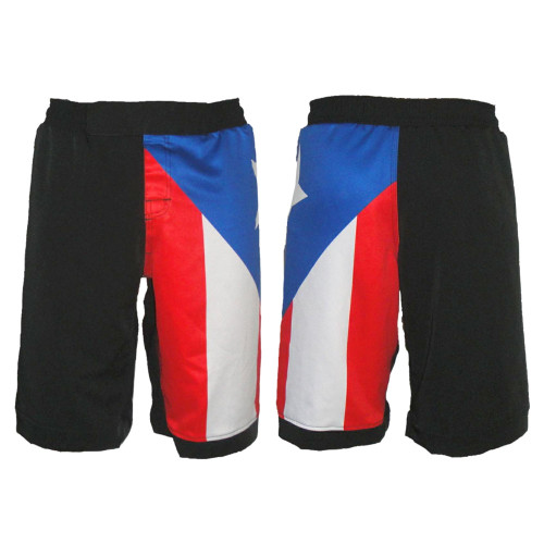 Puerto Rico MMA Shorts - Front Back