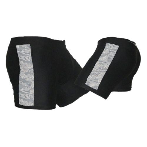 Black and ABU (Air Force Camo) Vale Tudo MMA Shorts