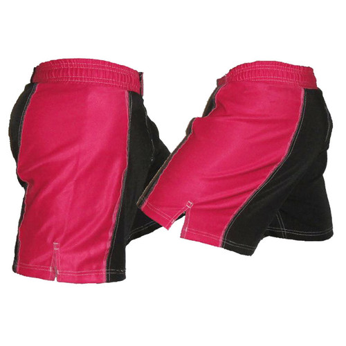 Black and Pink Striped Female MMA Shorts