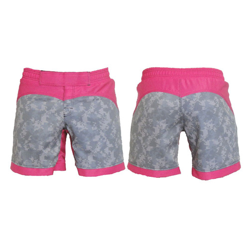 ACU and Pink Female MMA Shorts