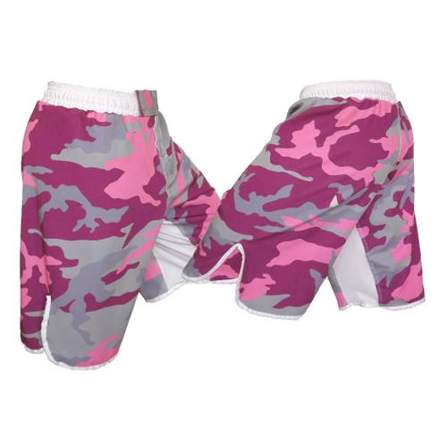 Youth Pink Camo MMA Shorts