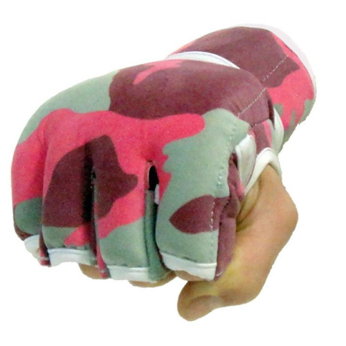 Pink Camouflage Fight Gloves