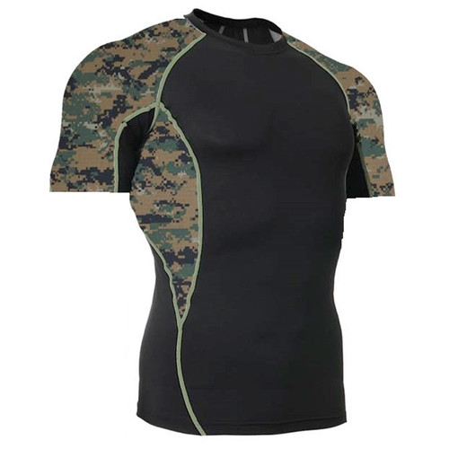 Marpat Camouflage Short Sleeve Side Panel Rash Guard