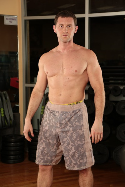 ACU with Tan Stripe Camouflage MMA Fight Shorts