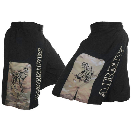 Army Combatives Panel Fight Shorts MultiCam