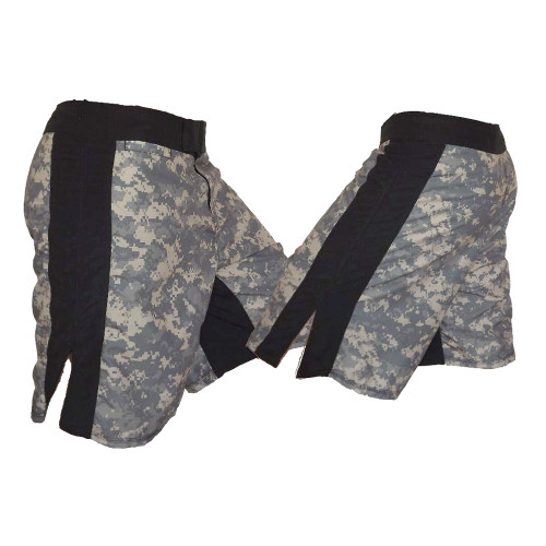 ACU MMA Fight Shorts with Black Stripe