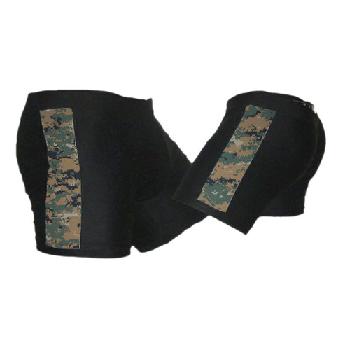 Black and Marpat Stripe Vale Tudo MMA Shorts