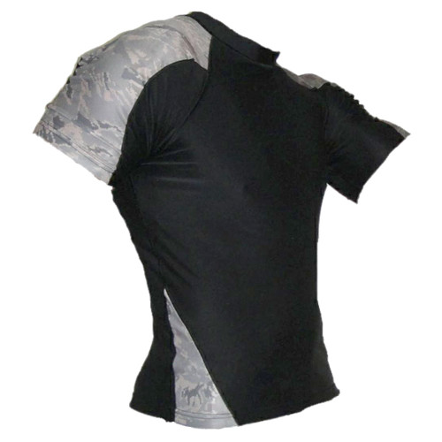 Black and ABU Rash Guard