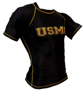 Black and Gold USMC Rash Guard