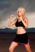 Female Black and Pink MMA Fight Skirt