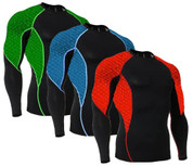 Long Sleeve Side Panel Scales Rash Guard