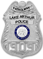 Lake Arthur Police Badge - Single Badge Only