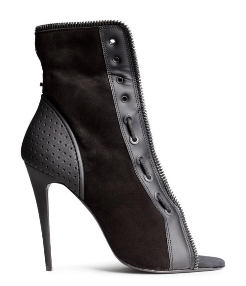 Alexander Wang x HM Open Toe Black Ankle Boots sz 39 (US 8.5) **BRAND NEW