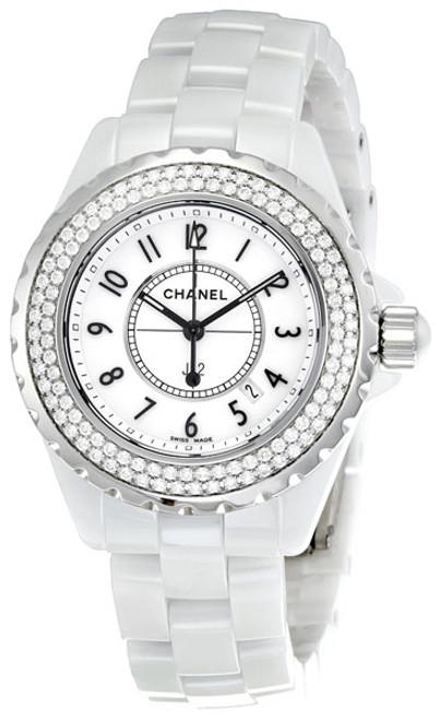 Chanel J12 Diamond Bezel White High Tech Ceramic Watch