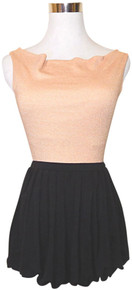 Tart Collections Black Pleated Bubble Shaped Mini Skirt sz S **BRAND NEW