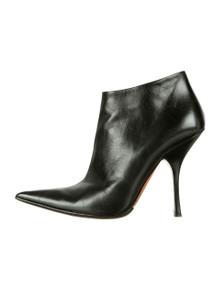 Alaïa Black Leather Pointed Toe Ankle Booties sz 38.5 (US 8)
