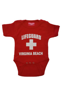 Red Lifeguard Infant Onesies | Beach Lifeguard Apparel Online Store
