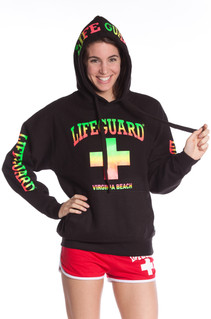 Girls Neon Blend Iconic Lifeguard Hoodie